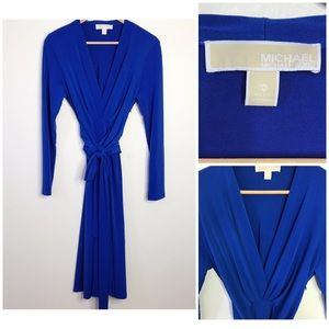 Michael Kors Blue Jersey Knit Dress
